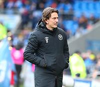 29th February 2020; Cardiff City Stadium, Cardiff, Glamorgan, Wales; English Championship Football, Cardiff City versus Brentford; Thomas Frank, Manager of Brentford
