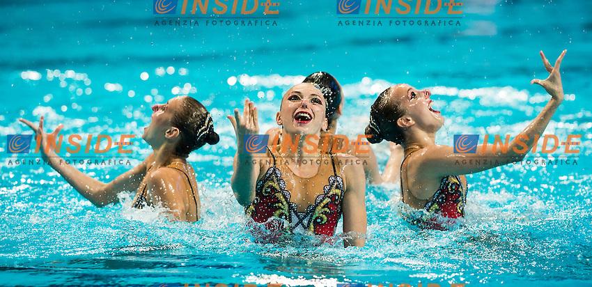 RUS - Russian Federation<br /> CHIGIREVA Vlada KALANCHA Mikhaela<br /> KOLESNICHENKO Svetlana NIZAMOVA Liliia<br /> PATSKEVICH Aleksandra PROKOFYEVA Elena<br /> SHISHKINA Alla SHUROCHKINA Maria<br /> TIMANINA Anzhelika TOPILINA Gelena<br /> Day 9 01/08/2015<br /> XVI FINA World Championships Aquatics<br /> Synchro<br /> Kazan Tatarstan RUS July 24 - Aug. 9 2015 <br /> Photo Giorgio Scala/Deepbluemedia/Insidefoto