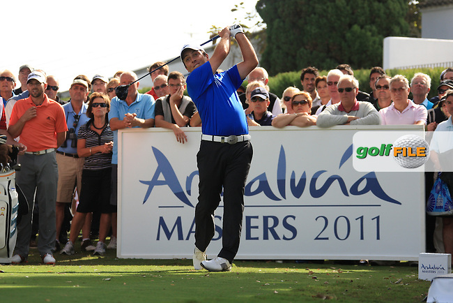 Francesco Molinari (ITA) during the 1st day at the  Andalucía Masters at Club de Golf Valderrama, Sotogrande, Spain. .Picture Fran Caffrey www.golffile.ie
