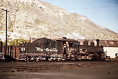 D&amp;RGW #464 in Durango yards.<br /> D&amp;RGW  Durango, CO