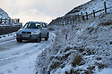 08/12/14<br /> <br /> The road over Mam Tor.<br /> <br /> After overnight snowfall in Debyshire dawn reveals stunning snowscapes across the Peak District.<br /> <br /> ***ANY UK EDITORIAL PRINT USE WILL ATTRACT A MINIMUM FEE OF &pound;130. THIS IS STRICTLY A MINIMUM. USUAL SPACE-RATES WILL APPLY TO IMAGES THAT WOULD NORMALLY ATTRACT A HIGHER FEE . PRICE FOR WEB USE WILL BE NEGOTIATED SEPARATELY***<br /> <br /> <br /> All Rights Reserved - F Stop Press. www.fstoppress.com. Tel: +44 (0)1335 300098