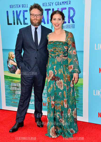 """Seth Rogen & Lauren Miller Rogen at the Los Angeles premiere of """"Like Father"""" at the Arclight Theatre, Los Angeles, USA 31 July 2018<br /> Picture: Paul Smith/Featureflash/SilverHub 0208 004 5359 sales@silverhubmedia.com"""