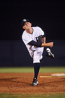 Tampa Yankees relief pitcher Andrew Schwaab (34) during a game against the Daytona Tortugas on August 5, 2016 at George M. Steinbrenner Field in Tampa, Florida.  Tampa defeated Daytona 7-1.  (Mike Janes/Four Seam Images)
