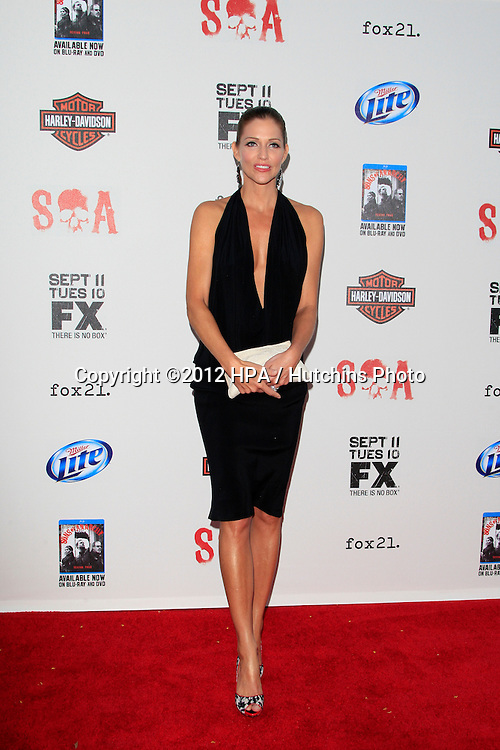 "LOS ANGELES - SEP 8:  Tricia Helfer arrives at the ""Sons of Anarchy"" Season 5 Premiere Screening at Village Theater on September 8, 2012 in Westwood, CA"
