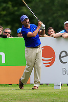 Jose Maria Olazabal (ESP) on the 10th tee during Round 2 of the Irish Open at Fota Island on Friday 20th June 2014.<br /> Picture:  Thos Caffrey / www.golffile.ie