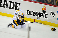 May 31, 2017: Nashville Predators defenseman P.K. Subban (76) holds his head after taking a hit during game two of the National Hockey League Stanley Cup Finals between the Nashville Predators  and the Pittsburgh Penguins, held at PPG Paints Arena, in Pittsburgh, PA. The Penguins defeat the Predators 4-1 and lead the series 2-0. Eric Canha/CSM