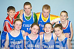 YOUTH CLUB: The Castleisland Youth Club Basketball Team who competed in the Flesk Region Basketball Finals in Castleisland Community Centre last Friday night. Front l-r: Julianne Twomey, Sheila Wren, Cait Lynch and Ciara OConnell. Back l-r: Eamon McLoughlin, JJ Casey, Hugh Herlihy and Paul White..