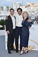 CANNES, FRANCE - MAY 11:  Eero Milonoff, director Ali Abbasi and actress Eva Melander at the photocall for 'Grans' during the 71st annual Cannes Film Festival at Palais des Festivals on May 11, 2018 in Cannes, France. <br /> CAP/PL<br /> &copy;Phil Loftus/Capital Pictures