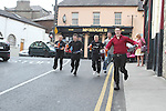 Connr Mohan, DHotel, Gareth Ryan, Riverhouse, Stephen Reilly, Laurence Inn, Justin Molloy, Westcourt Hotel and Sandy Asmus from Sarsfields take part in the Waiter Race as part of the Drogheda Food Festival...Photo NEWSFILE/Jenny Matthews.(Photo credit should read Jenny Matthews/NEWSFILE)....This Picture has been sent you under the condtions enclosed by:.Newsfile Ltd..The Studio,.Millmount Abbey,.Drogheda,.Co Meath..Ireland..Tel: +353(0)41-9871240.Fax: +353(0)41-9871260.GSM: +353(0)86-2500958.email: pictures@newsfile.ie.www.newsfile.ie.FTP: 193.120.102.198.