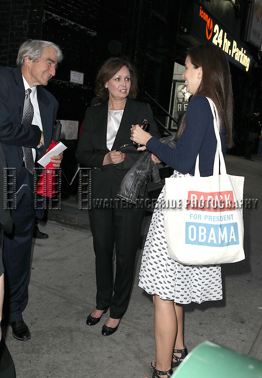 Sam Waterston and family attending the Broadway Opening Night Performance of 'An Enemy of the People' at the Samuel J. Friedman Theatre in New York. Sept. 27, 2012