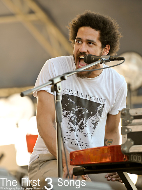 Chris Freeman of the Manchester Orchestra performs during the Beale Street Music Festival in Memphis, TN on April 29, 2011.