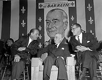 Assemblee de L'Union Nationale a Saint-Georges-de-Beauce - Antonio Barrette<br /> le 14 mai 1960<br /> <br /> Photographe : Photo Moderne - Agence Quebec Presse