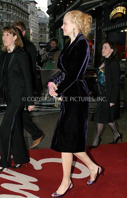 WWW.ACEPIXS.COM . . . . .  ... . . . . US SALES ONLY . . . . .....LONDON, APRIL 14, 2005....Nicole Kidman at the UK premiere of The Interpreter held at the Empire Leicester Square Cinema.....Please byline: FFAMOUS-ACE PICTURES-F. DUVAL... . . . .  ....Ace Pictures, Inc:  ..Craig Ashby (212) 243-8787..e-mail: picturedesk@acepixs.com..web: http://www.acepixs.com