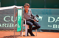Austria, Kitzbuhel, Juli 15, 2015, Tennis, Davis Cup, Training Dutch team, Jan-Willem de Lange<br /> Photo: Tennisimages/Henk Koster