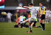 3rd December 2017, Twickenham Stoop, London, England; Aviva Premiership rugby, Harlequins versus Saracens; Owen Farrell of Saracens converts the first try