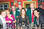 At the Waterville Golf Club's Captain's Dinner in the Smugglers Inn were front l-r; Annette O'Neill, Francis Everett, Colette Murphy, Miriam Courtney, back l-r; President Vincent O'Sullivan, Vice-Captain Finbar McGillicuddy & Captain Aidan MacAuliffe.