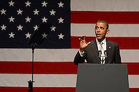 MIAMI BEACH, FL - JUNE 26: US President Barack Obama speaks during a fundraiser hosted by Marc Anthony at the Fillmore Miami Beach on June 16, 2012 in Miami Beach, Florida. &copy;&nbsp;mpi04/MediaPunch Inc.. /**NORTEPHOTO:COM**<br /> **SOLO*VENTA*EN*MEXICO** **CREDITO*OBLIGATORIO**