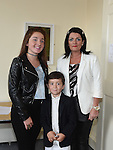 Kirsty and alison Maxim and Patrick Connolly pictured at the casting for extras in the Drogheda movie 'A date with Mad mary' at barlow House. Photo:Colin Bell/pressphotos.ie