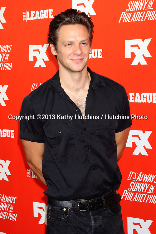 """LOS ANGELES - SEP 3:  Jacob Pitts at the FXX Network Launch Party And Premieres For """"It's Always Sunny In Philadelphia"""" And """"The League"""" at the Lure on September 3, 2013 in Los Angeles, CA"""