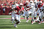 Wisconsin Badgers running back Chris James (5) carries the ball during an NCAA College Football game against the Florida Atlantic Owls Saturday, September 9, 2017, in Madison, Wis. The Badgers won 31-14. (Photo by David Stluka)