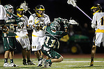 Placentia, CA 05/14/10 - Austin Hafdell (MC # 11) and Josh Giglio (Foothill # 55) in action during the Mira Costa vs Foothill boys lacrosse game for the 2010 Los Angeles / Orange County CIF Championship.