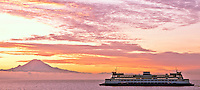 Seattle, Washington. Another beautiful sunrise on the Seattle/Bremerton ferry. I'm just heading home for Christmas Eve with the family.