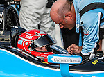 Simon Pagenaud (77) driver of the Schmidt Hamilton HP Motorsports car, in action during the IZOD Indycar Firestone 550 race at Texas Motor Speedway in Fort Worth,Texas. Justin Wilson (18) driver of the Sonny's BBQ car wins the Firestone 550 race...