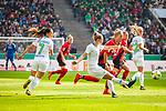01.05.2019, RheinEnergie Stadion , Köln, GER, 1.FBL, Borussia Dortmund vs FC Schalke 04, DFB REGULATIONS PROHIBIT ANY USE OF PHOTOGRAPHS AS IMAGE SEQUENCES AND/OR QUASI-VIDEO<br /> <br /> im Bild | picture shows:<br /> Alexandra Popp (VfL Wolfsburg #11) klärt vor Sharon Beck (SC Freiburg Frauen #10), <br /> <br /> Foto © nordphoto / Rauch