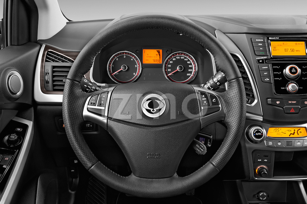 Car pictures of steering wheel view of a2014 Ssangyong Korando Sapphire 5 Door SUV Steering Wheel