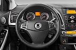 Car pictures of steering wheel view of a2014 Ssangyong Korando Sapphire 5 Door SUV Steering Wheel