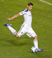 LA Galaxy defender Omar Gonzalez had a stellar holding up the LA Galaxy defence. The LA Galaxy defeated Chivas USA 2-0 during the Super Clasico at Home Depot Center stadium in Carson, California Thursday evening April 1, 2010.  .