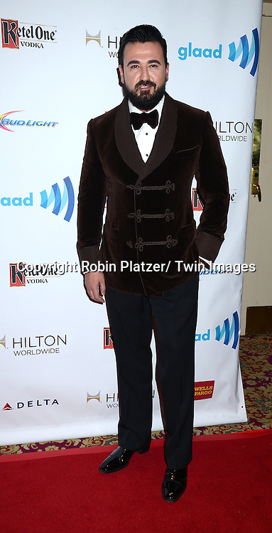 Chris Salgardo attends the 25th Annual GLAAD Media Awards at the Waldorf Astoria Hotel in New York City, NY on May 3, 2014.