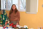 Art Teacher Lisa Connelly with a table of crafts at the Youthreach Christmas Party..Picture: Shane Maguire / www.newsfile.ie.