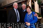 David and Kathleen Lovett with Tony Brosnan (centre) at the Lispole GAA function at the Skellig Hotel in Dingle on Thursday night.