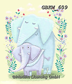 Kate, CUTE ANIMALS, LUSTIGE TIERE, ANIMALITOS DIVERTIDOS, paintings+++++Little elephants 3.,GBKM609,#ac#, EVERYDAY