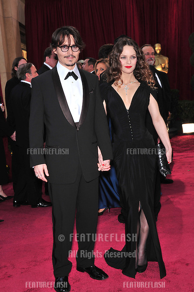 Johnny Depp & Vanessa Paradis at the 80th Annual Academy Awards at the Kodak Theatre, Hollywood, CA..February 24, 2008 Los Angeles, CA.Picture: Paul Smith / Featureflash