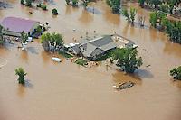 Flooding along South Platte River, near Kersey in Weld County, Colorado