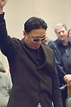 Young Cho celebrates KO'ing John Racener.