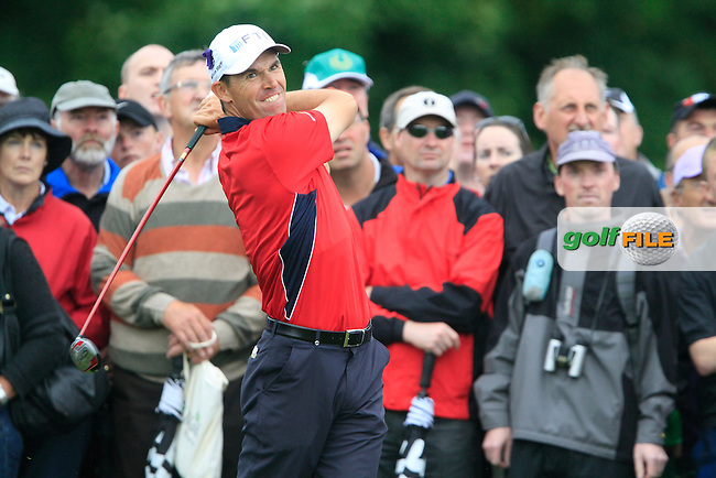 Padraig Harrington plays his 2nd shot from the rough on the 16th hole during Day 2 of the 3 Irish Open at the Killarney Golf & Fishing Club, 30th July 2010..(Picture Eoin Clarke/www.golffile.ie)