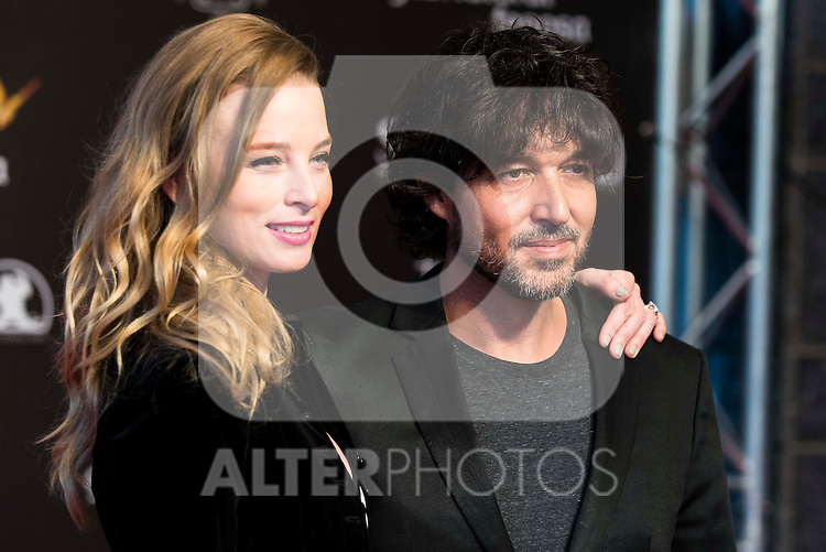 Rachel Nichols and Miguel Angel Vivas during the red carpet of the opening ceremony of the Festival de Cine Fantastico de Sitges in Barcelona. October 07, Spain. 2016. (ALTERPHOTOS/BorjaB.Hojas)