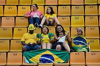 ATENÇÃO EDITOR FOTO EMBARGADA PARA VEÍCULOS INTERNACIONAIS - SAO PAULO, SP, 09 DE DEZEMBRO DE 2012 - TORNEIO INTERNACIONAL CIDADE DE SÃO PAULO - BRASIL x PORTUGAL: Torcida do Brasil durante partida Brasil x Portugal, válido pelo Torneio Internacional Cidade de São Paulo de Futebol Feminino, realizado no estádio do Pacaembú em São PauloFOTO: LEVI BIANCO - BRAZIL PHOTO PRESS