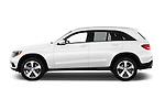 Car Driver side profile view of a 2016 Mercedes Benz GLC-Class GLC300 5 Door SUV Side View