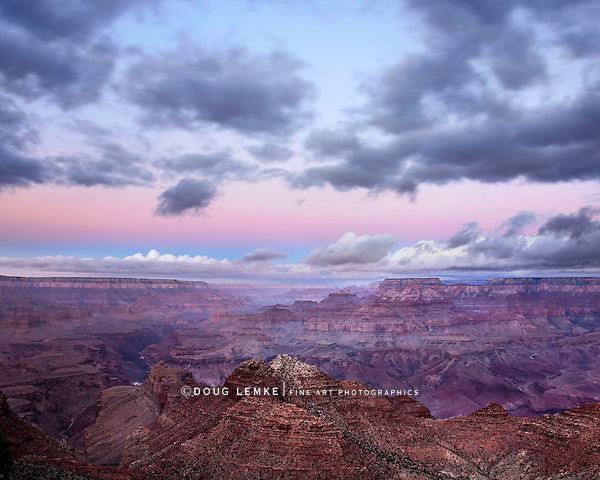 A Stormy Morning At Grand Canyon National Park, Arizona, East Rim View, USA