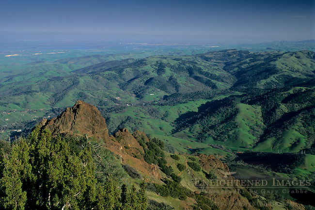 View looking SE from atop Mt. Diablo, Mount Diablo State Park, Contra Costa County, CALIFORNIA