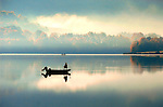 Fishing early morning. Rose Valley Lake, Lycoming County, PA.