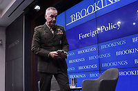 Washington, DC - May 29, 2019: Chairman of the Joint Chiefs of Staff General Joseph F. Dunford speaks at the Brookings Institution in Washington D.C., May 29, 2019.  (Photo by Lenin Nolly/Media Images International)