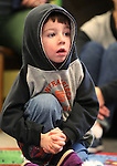 Michael Houk, 4, listens to Storytime at the Carson City Library on Thursday, Dec. 13, 2012. .Photo by Cathleen Allison
