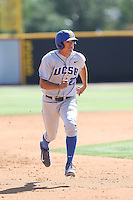 Robby Nesovic (23) of the UC Santa Barbara Gouchos runs the bases during a game against the Cal State Northridge Matadors at Matador Field on April 10, 2015 in Northridge, California. UC Santa Barbara defeated Cal State Northridge, 7-4. (Larry Goren/Four Seam Images)