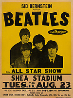 BNPS.co.uk (01202 558833)<br /> Pic: HeritageAuctions/BNPS<br /> <br /> A 54-year-old poster for a Beatles concert has sold for a world record price of £112,000.<br /> <br /> The poster that was promoting the Fab Four's famous return concert to Shea Stadium in New York was removed from a train station wall by a fan in 1966.<br /> <br /> She kept it all her life until she died when it was left to her brother.