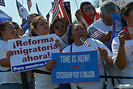 April 10, 2013  (Washington, DC)  Thousands of people from across the country gathered at the U.S. Capitol on April 10, 2013, to rally for immigration reform.  (Photo by Don Baxter/Media Images International)